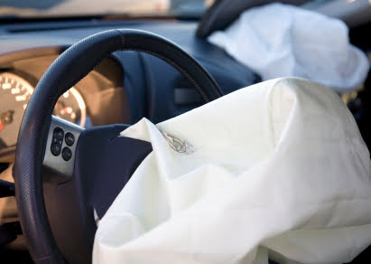 An air bag deployed after a car was in an accident