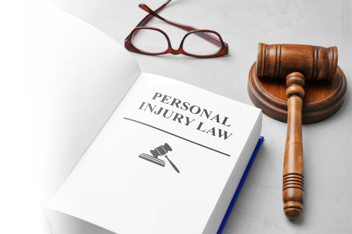 Personal Injury book with Gavel